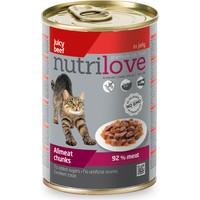 Nutrilove Tahılsız Sığır Etli Jöleli Parça Etli Kedi Konservesi 400 Gr (%92 Et Oranı)