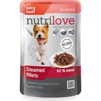 Nutrilove Buharda Pişmiş Fileto Sığır Eti Yetişkin Köpek Konservesi 85 Gr
