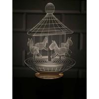 By-Lamp 3 Boyutlu Atlı Karınca Lamba