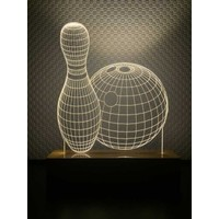 By-Lamp 3 Boyutlu Bovling Lamba