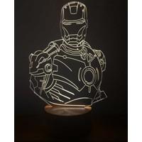 By-Lamp 3 Boyutlu Iron Man Lamba
