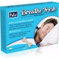 Pufai Breathe Fresh 10 Adet (1Box) 66X19 Mm Büyük Boy Şeffaf Burun Bandı