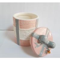 Acar Porselen Küçük Boy Fiyonk Model Kavanoz Adet