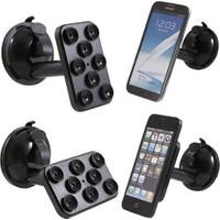 Vip Araç İçi Telefon - Tablet - Navigasyon Tutucu ( 8 Vantuzlu Döner Başlıklı )