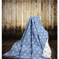 Aksu Pamuklu Battaniye 180x220 Kutulu - Starry Mavi