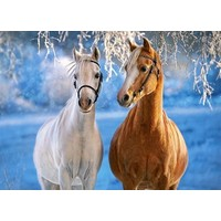 Castorland 260 Parça Puzzle The Winter Horses