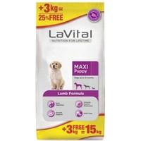 Lavital Maxi Puppy Lamb Formula 12+3 Kg Bedava