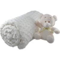 Aksu - Merinos Oyuncaklı Tomurcuk Bebek Battaniye Krem