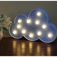 Momz Bebek Çocuk Odası Mavi Bulut Led Gece Lambası