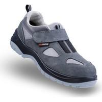 Mekap Policap 157 01 S1P Gri Süet Cırtlı Çelik Burunlu ve Tabanlı İş Ayakkabısı