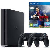 Sony Ps4 Slim 500Gb Oyun Konsolu + Ps4 2. Kol + Ps4 Pes 2018
