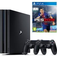 Sony Playstation 4 Pro 1 Tb ( Ps4 Pro ) + 2. Ps4 Kol + Ps4 Pes 2018