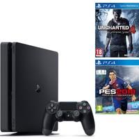 Sony Ps4 Slim 500Gb Oyun Konsolu + Ps4 Pes 2018 + Ps4 Uncharted 4 ( İthalatçı Garantili )