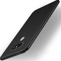 Microcase LG G6 Luxury Sert Köşeli Rubber Kılıf+Tempered Cam
