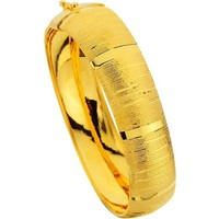 Sembolgold Altın Desenli Press Kelepçe T1565