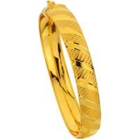 Sembolgold Altın Hat Desenli Press Kelepçe T1553