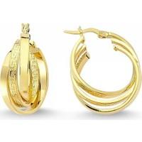Sembolgold Altın İtaly Halka Küpe T1714