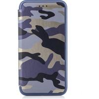 DC Samsung Galaxy S8+ Plus Kamuflaj Desenli Mıknatıslı Kapaklı Kılıf