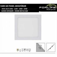 Forlife Fl-2042 10W Sıva Altı Kare Panel Led Armatür 6500K Beyaz Işık
