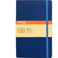 My Note Case 13X21 96 Yaprak Koyu Mavi Çizgisiz Defter Myn100-D
