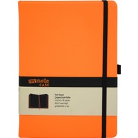 My Note Case Siyah 96 Yaprak Neon Turuncu Çizgisiz Defter Myn126