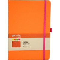 My Note Case Pembe 96 Yaprak Neon Turuncu Çizgisiz Defter Myn127