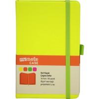 My Note Case Yeşil 96 Yaprak Neon Sarı Çizgisiz Defter Myn128