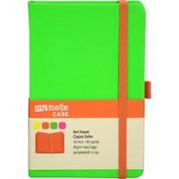 My Note Case Turuncu 96 Yaprak Neon Yeşil Çizgisiz Defter Myn128