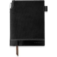 Cross Signature Small Tekstil Kapak Siyah Çizgili Defter Ac249-1S