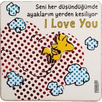 Snoopy Seni Her Düşündüğümde Magnet Mag 17