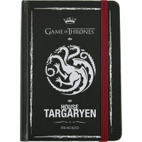 Game Of Thrones Defter 9X14 Cm Sert Kapaklı Lastikli 99 Yaprak Targaryen Got201