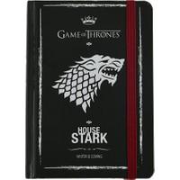 Game Of Thrones Defter 9X14 Cm Sert Kapaklı Lastikli 99 Yaprak Stark Got203