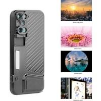 Markacase iPhone 7 Plus Kılıflı 4İn1 Lens Seti Macro Fisheye Zoom Lens