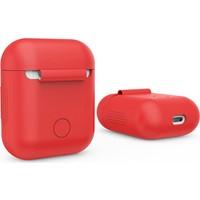 Gaoye Airpods Bluetooth Kulaklık Saklama Kutusu Silikon Kılıf - Kırmızı