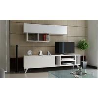 EvModüler Loft Tv Ünitesi 00231-01 Beyaz Beyaz