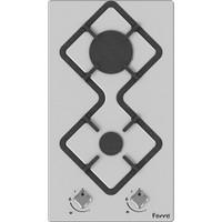 Ferre KA020 Karad 2'li Ankastre Beyaz Cam Ocak