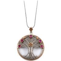 Akyüz Gümüş Hayat Ağacı Telkari Gümüş Kolye Klt165