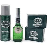 Brut Plexi Madalyonlu Parfüm 100Ml+Deodorant 200 Ml+2 Brut Sabun