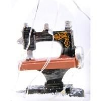 Pratik Işıklı Dikiş Makinesi Retro Kar Küresi