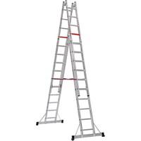 Çağsan 2x10 Basamaklı A Tipi Çift Taraflı Sürgülü Alüminyum Merdiven