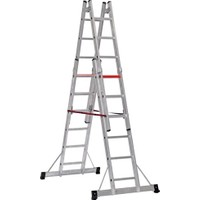 Çağsan 2x6 Basamaklı A Tipi Çift Taraflı Sürgülü Alüminyum Merdiven