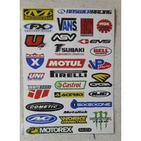 Motospartan Motosiklet Sticker Seti Küçük Karışık Yazılı A4-014