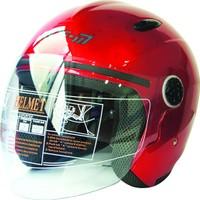 Spyder Motosiklet Kaskı Yarım Camlı 601 Kırmızı Medıum