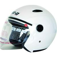 Spyder Motosiklet Kaskı Yarım Camlı 601 Beyaz Large