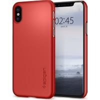 Spigen Apple iPhone X Kılıf Thin Fit Ultra İnce Metallic Red - 057CS22109