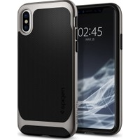 Spigen Apple iPhone XS / iPhone X Kılıf Neo Hybrid Gunmetal - 057CS22165