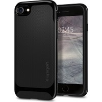 Spigen Apple iPhone 8 - iPhone 7 Kılıf Neo Hybrid Herringbone Shiny Black - 054CS22200