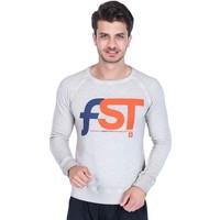 Superfly Freestyle Snowboard Team Erkek Baskılı Beyaz Sweatshirt