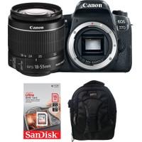 Canon EOS 77D + 18-55 Lens + Hafıza Kartı + Eye Sırt Çantası