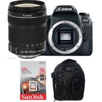 Canon EOS 77D + 18-135 Lens + Hafıza Kartı + Eye Sırt Çantası